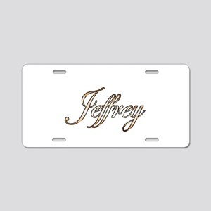 Gold Jeffrey Aluminum License Plate