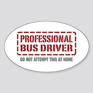 Professional Bus Driver Oval Sticker