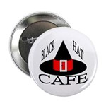 "Black Hat Cafe 2.25"" Button (100 pack)"