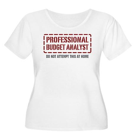 Professional Budget Analyst Women's Plus Size Scoo