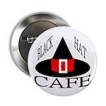 "Black Hat Cafe 2.25"" Button (10 pack)"