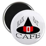 """Black Hat Cafe 2.25"""" Magnet (100 pack)"""