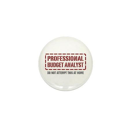 Professional Budget Analyst Mini Button