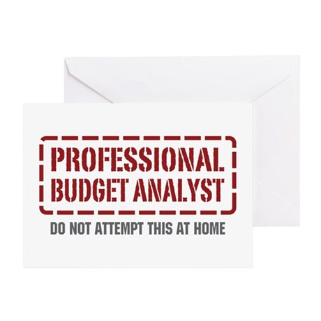Professional Budget Analyst Greeting Card