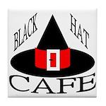 Black Hat Cafe Tile Coaster
