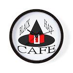 Black Hat Cafe Wall Clock