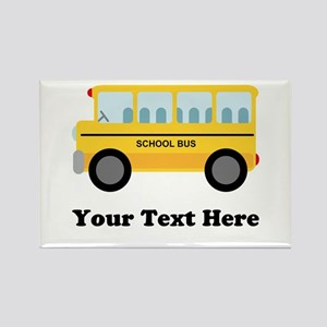 School Bus Personalized Magnets