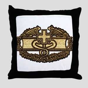 Combat Medic(gold) Throw Pillow