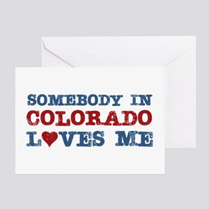 Somebody in Colorado Loves Me Greeting Card