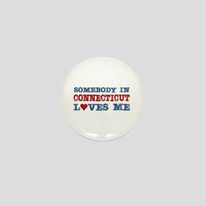 Somebody in Connecticut Loves Me Mini Button