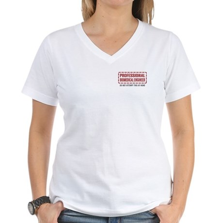 Professional Biomedical Engineer Women's V-Neck T-