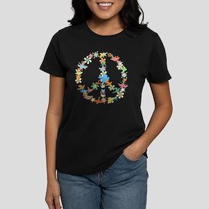 Abstract Art Peace Sign Women's Dark T-Shirt