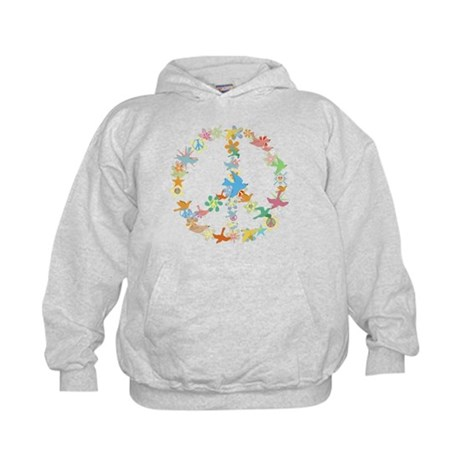 Abstract Art Peace Sign Kids Hoodie