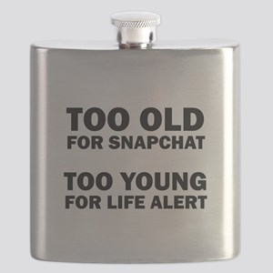 TOO OLD FOR SNAPCHAT Flask