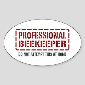 Professional Beekeeper Oval Sticker