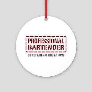 Professional Bartender Ornament (Round)