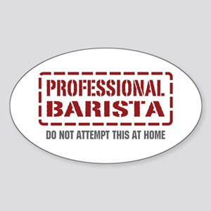 Professional Barista Oval Sticker