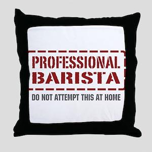 Professional Barista Throw Pillow