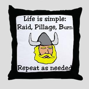 Viking Life Throw Pillow