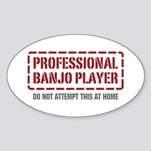 Professional Banjo Player Oval Sticker