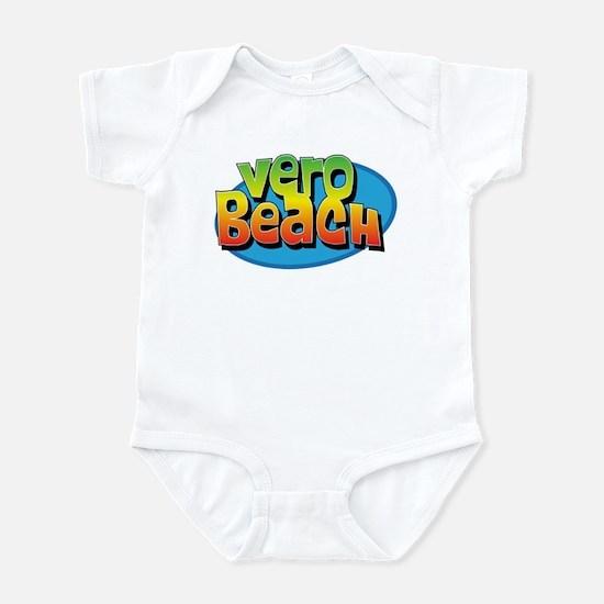 Vero Beach Florida Cartoon Souvenir Infant Bodysui