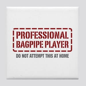 Professional Bagpipe Player Tile Coaster