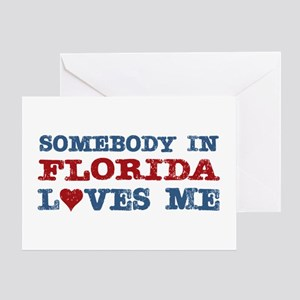 Somebody in Florida Loves Me Greeting Card