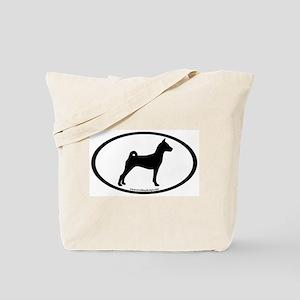 Basenji Dog Oval Tote Bag
