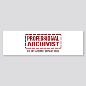 Professional Archivist Bumper Sticker