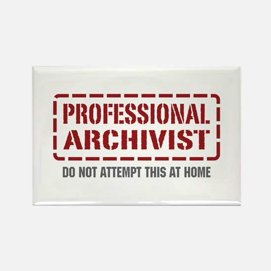 Professional Archivist Rectangle Magnet (100 pack)