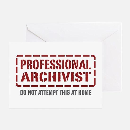 Professional Archivist Greeting Card