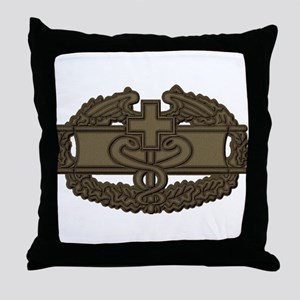 Combat Medic OD Throw Pillow