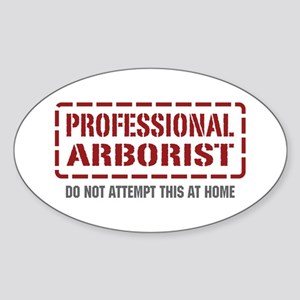 Professional Arborist Oval Sticker