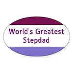 World's Greatest Stepdad Oval Sticker (10 pk)