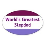 World's Greatest Stepdad Oval Sticker (50 pk)