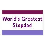 World's Greatest Stepdad Rectangle Sticker 50 pk)