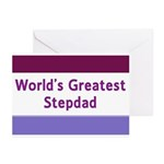 World's Greatest Stepdad Greeting Cards (Pk of 20)