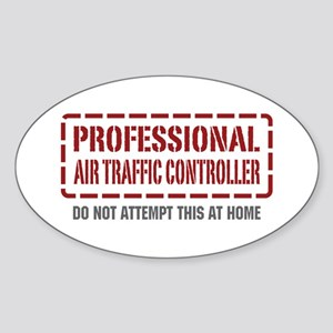 Professional Air Traffic Controller Oval Sticker