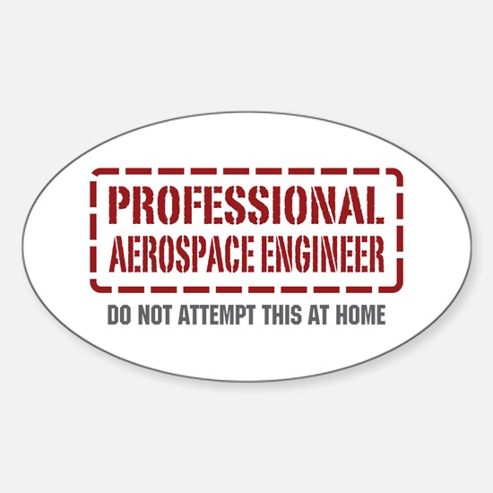 Professional Aerospace Engineer Oval Decal