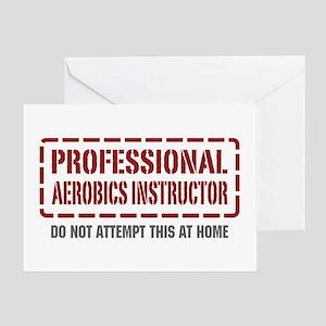 Professional Aerobics Instructor Greeting Card