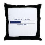 GRADUATE LOADING... Throw Pillow