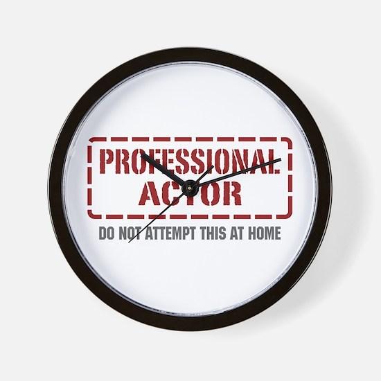 Professional Actor Wall Clock