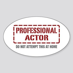 Professional Actor Oval Sticker