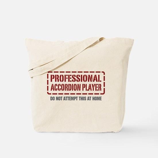 Professional Accordion Player Tote Bag