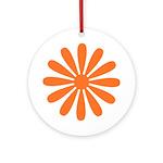 Orange Daisy Keepsake (Round)