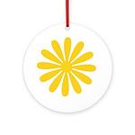 Yellow Daisy Keepsake (Round)