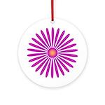 Pink & Purple Zinnia Keepsake (Round)