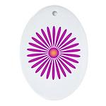 Pink & Purple Zinnia Keepsake (Oval)