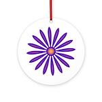 Purple Zinnia Keepsake (Round)