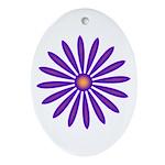 Purple Zinnia Keepsake (Oval)